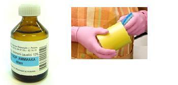 чистимо нашатирним спиртом